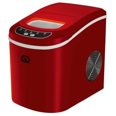 Portable Compact Maker, Counter Top Ice Making Machine - Red