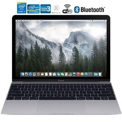 MacBook MJY32LL/A 12` Laptop with Retina Display 256GB, Space Gray - Refurbished