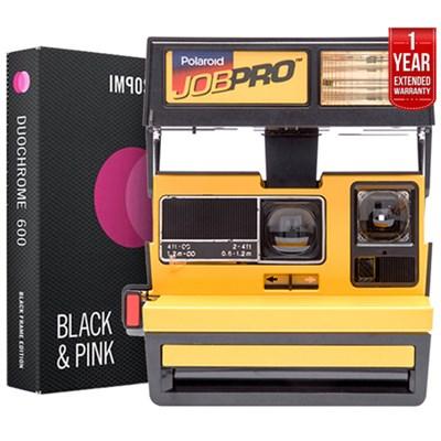 Polaroid 600 Job Pro Instant Film Camera Yellow +Instant Film +Extended Warranty