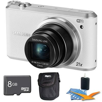 WB350 16.3MP 21x Opt Zoom Smart Camera White 8GB Kit