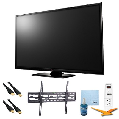 60` Plasma 1080p 600Hz Smart HDTV Plus Tilting Mount & Hook-Up Bundle (60PB6600)