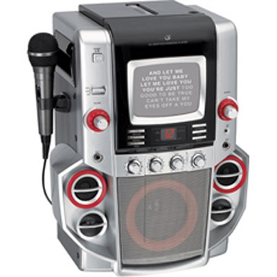 JM258 - CD G Karaoke System with 5` Black-and-White Monitor