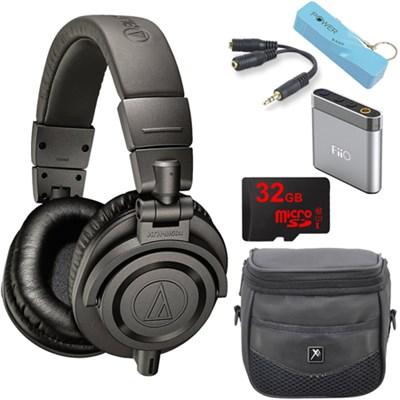 ATH-M50xMG Limited Edition Professional Studio Monitor Headphones E6 Amp Bundle