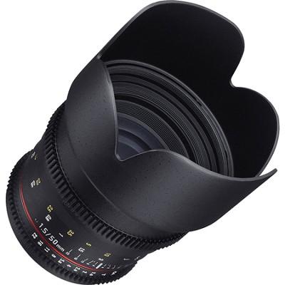 50mm T1.5 Cine VDSLR II Lens for Nikon Mount