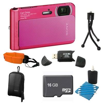 DSC-TX30/B Pink Digital Camera 16GB Bundle
