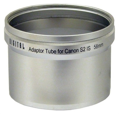 LA-S2 58mm Lens Barrel Adapter For CANON PowerShot S2 / S3