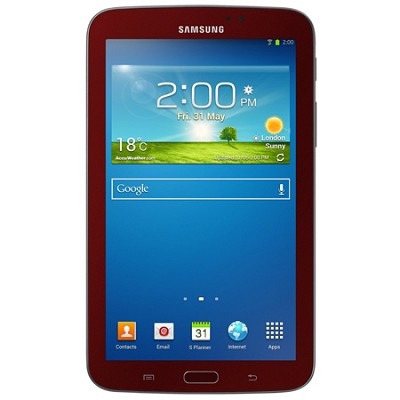 Galaxy Tab 3 Tablet (7-inch, Red) with Samsung Cover