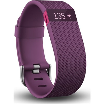 Charge HR Wireless Activity Wristband, Plum, Small - OPEN BOX