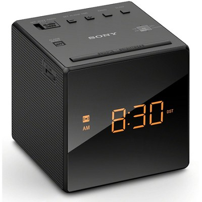 Alarm Clock with FM/AM Radio, Black (ICF-C1BLACK) - OPEN BOX