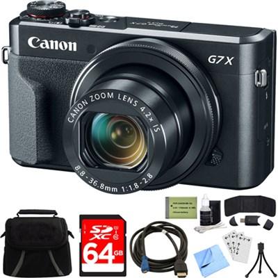 PowerShot G7 X Mark II 20.1MP 4.2x Zoom Digital Camera w/ 64GB Accessory Bundle