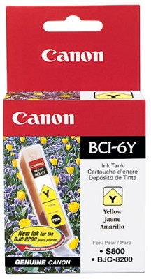 Yellow BCI-6Y Removable Ink Tank f/ S9000/i9100/i860/i960 Printers