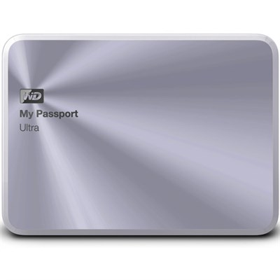 My Passport Ultra Metal Edition 1TB Silver - WDBTYH0010BSL-NESN - OPEN BOX