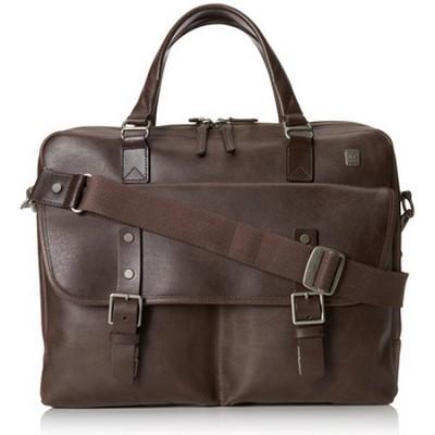 Tamarack Top Zip Leather Brief 054618B- Brown