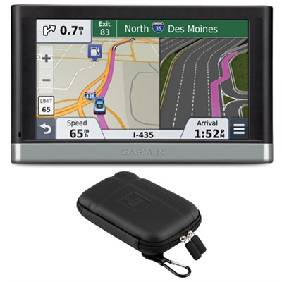 nuvi 2597LMT 5` Bluetooth GPS System Lifetime Maps/Traffic Case Bundle