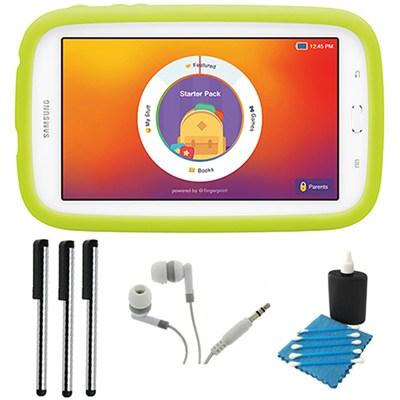 Galaxy Tab 3 Lite Kids Edition 7.0` 8GB Wi-Fi (White w/ Green Bumper)