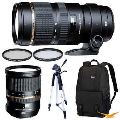 SP 70-200mm f2.8 DI VC USD Telephoto Zoom & SP 24-70mm f2.8 Lens Kit For Nikon