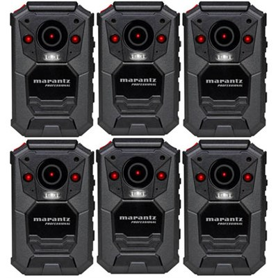 6-Pack Professional Grade Wearable Body Video Camera w/ GPS (PMD-901V)