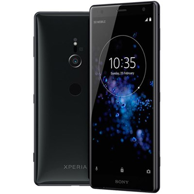 Xperia XZ2 - Unlocked Phone - 5.7` Screen - 64GB - (Liquid Black) - (1313-7925)