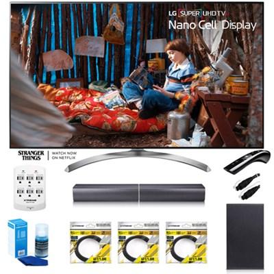 SUPER UHD 65` 4K HDR Smart LED TV 65SJ8500 w/ LG SJ7 Wireless Sound Bar Bundle