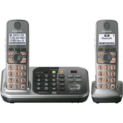 KX-TG7742S Dect 6.0 2-Handset Landline Telephone - OPEN BOX