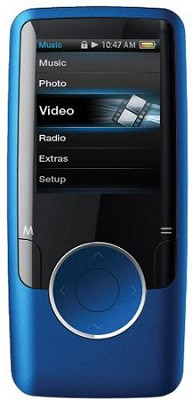 Blue MP3 Video Player with 1.8` Display, 4 GB Flash Memory & FM