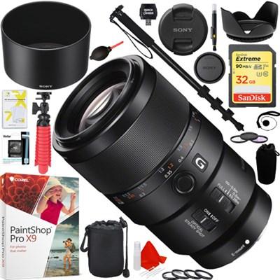 SEL90M28G - FE 90mm F2.8 Macro G OSS Full-frame E-mount Macro Lens Deluxe Kit