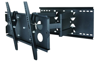 Full Motion Tilt & Swivel TV mount w/ level for 37-63 inch TVs