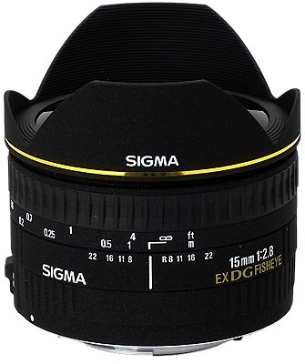 15mm F2.8 EX DG DIAGONAL Fisheye for Canon EOS SLR Cameras