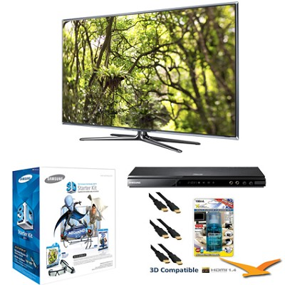 UN46D7900 46` 1080p 240hz 3D Backlit LED HDTV Bundle