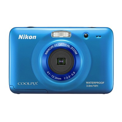 COOLPIX S30 10.1MP 2.7 LCD Waterproof, Shockproof Digital Camera - Blue