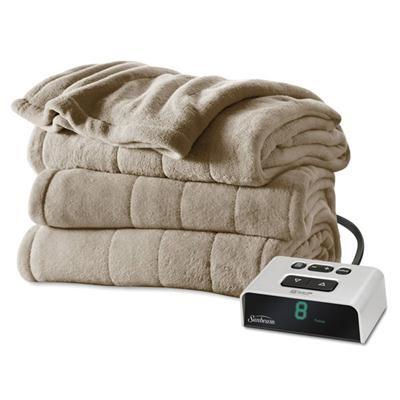 Microplush Heated Blanket - Twin (Mushroom)