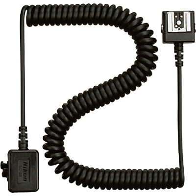 SC-28 Dedicated 3' TTL Coiled Sync Cord with Male & Female ISO Shoes