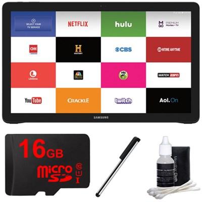 Galaxy View 18.4` 32GB Wi-Fi Tablet - Black - 16GB MicroSD Memory Card Bundle
