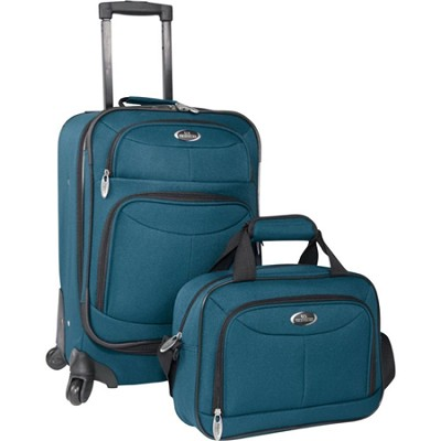 U.S. Traveler Fashion 2-piece Carry-on Luggage Set, Teal