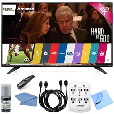 49UF7600 - 49-inch 2160p 120Hz 4K Ultra HD Smart LED TV Hook-Up Bundle