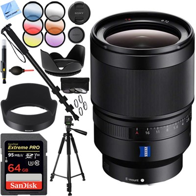 Distagon T FE 35mm F1.4 ZA Full-frame E-mount Prime Lens - SEL35F14Z 64GB Kit
