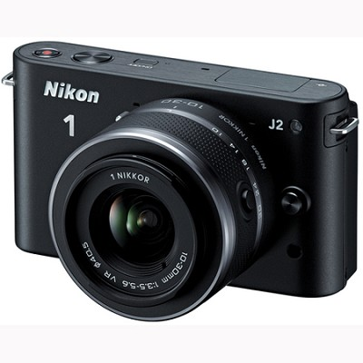 1 J2 SLR Black Digital Camera w/ 10-30mm VR Lens (27572)