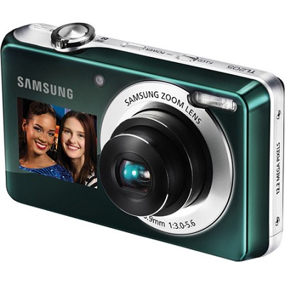 TL205 DualView 12MP 2.7` LCD Green Digital Camera