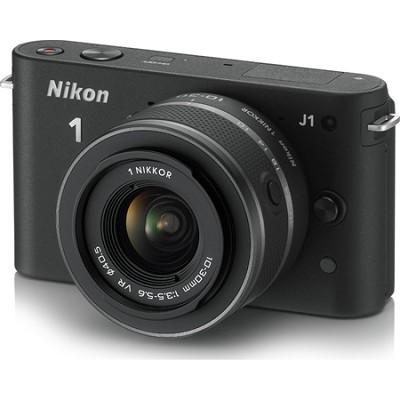 1 J1 Mirrorless Digital Camera w/ 10-30mm VR Lens (Black) Factory Refurbished