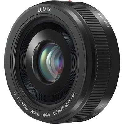 LUMIX H-H020AK G 20mm / F1.7 II ASPH. Black Lens