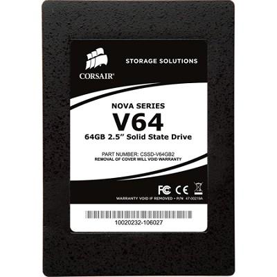 Nova Series V64 64GB 2.5` Solid-State Hard Drive