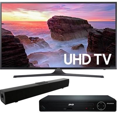 55` 4K Ultra HD Smart LED TV 2017 + HDMI DVD Player + Bluetooth Sound Bar
