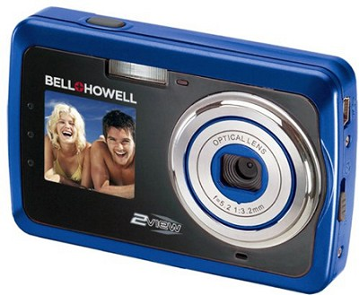 2View 12 MP Dual LCD Digital Camera - Blue