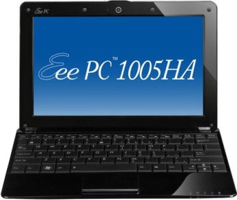 Eee PC 1005HA-V Seashell 10.1 inch Pearl Black NetBook