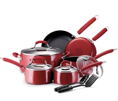 Chroma 12 Piece Cookware Set (Red)