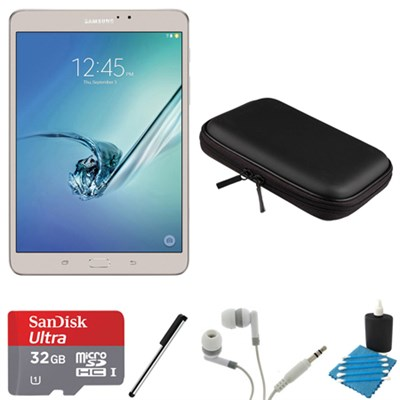 Galaxy Tab S2 8.0-inch Wi-Fi Tablet (Gold/32GB) 32GB MicroSD Card Bundle