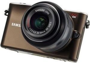 NX100 Mirrorless Digital Camera W/20-50mm Lens Brown