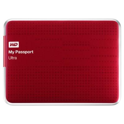 My Passport Ultra 2 TB USB 3.0 Portable Hard Drive -  (Red) - OPEN BOX