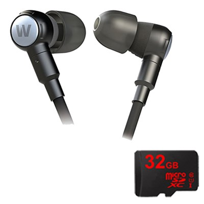 Adventure Series Beta High Performance Earphones- 78401 w/ 32GB Micro SD Card