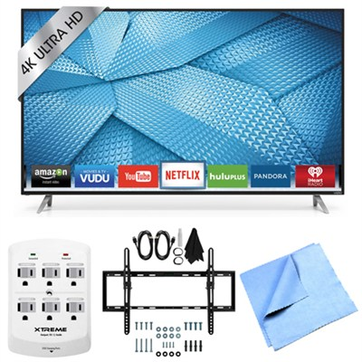 M55-C2 - 55` M-Series 120Hz 4K Ultra HD LED Smart TV Tilt Mount & Hook-Up Bundle